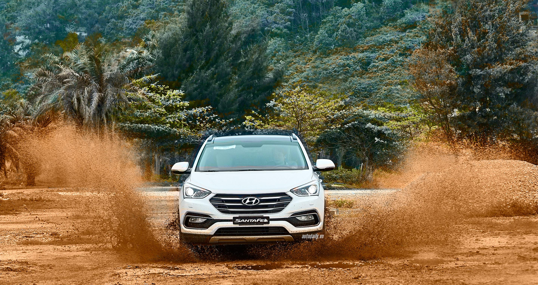 Đánh giá ban đầu về Hyundai SantaFe 2016 phiên bản máy dầu