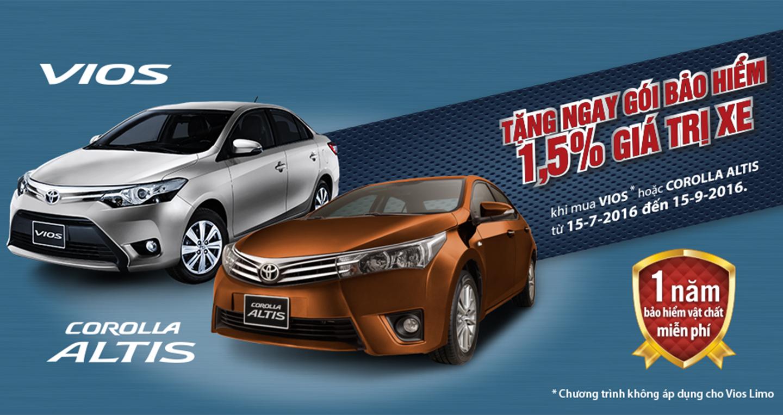 Toyota Việt Nam ưu đãi cho khách hàng mua xe Vios và Corolla Altis