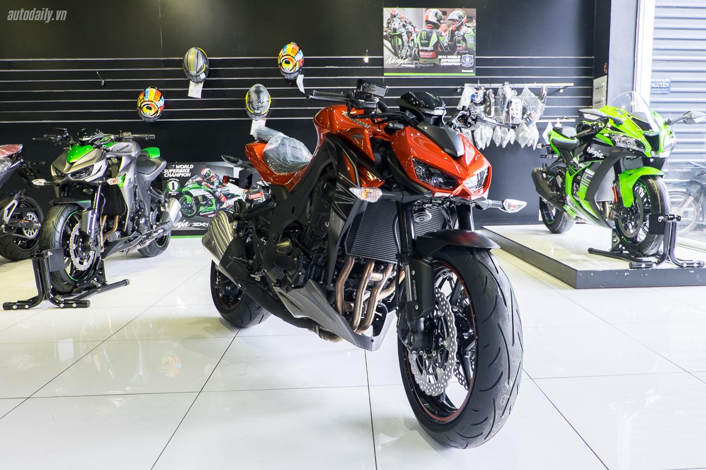 """Kawasaki Z1000 2017 """"chào"""" thị trường Việt Nam, giá từ 399 triệu đồng"""