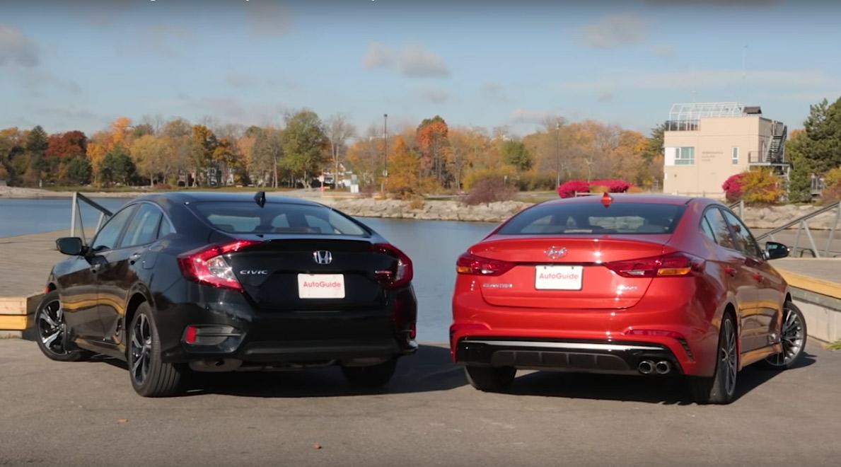 Cuộc chiến compact turbo: Honda Civic 2017 vs. Hyundai Elantra Sport 2017