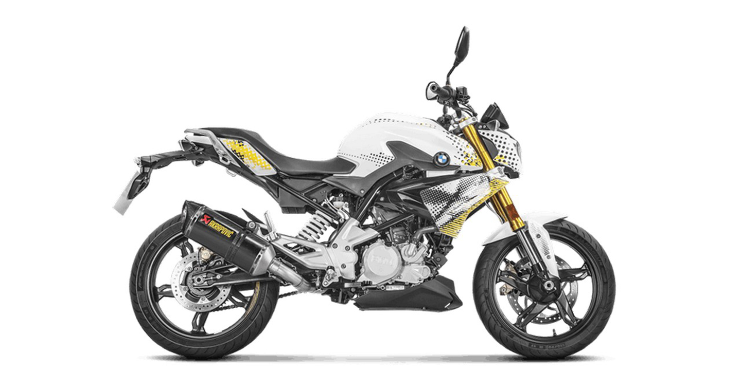 bmw g310r m nh m h n nh ng x akrapovic. Black Bedroom Furniture Sets. Home Design Ideas
