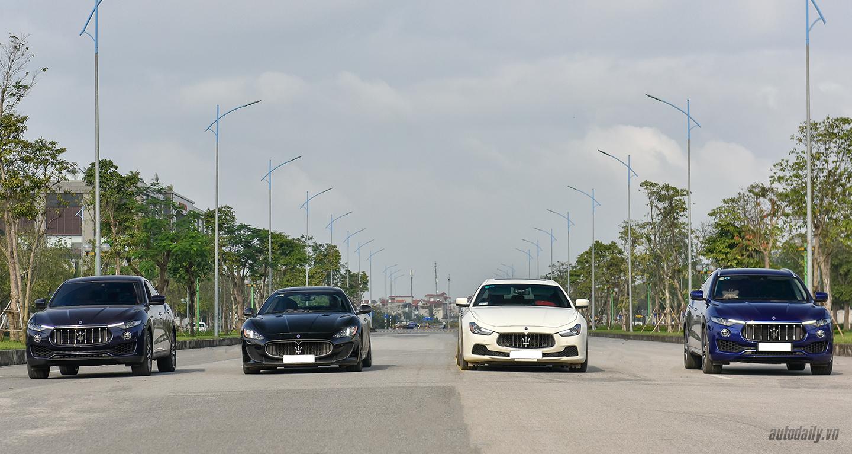 Dàn xe Maserati cực chất trên phố Hà Nội