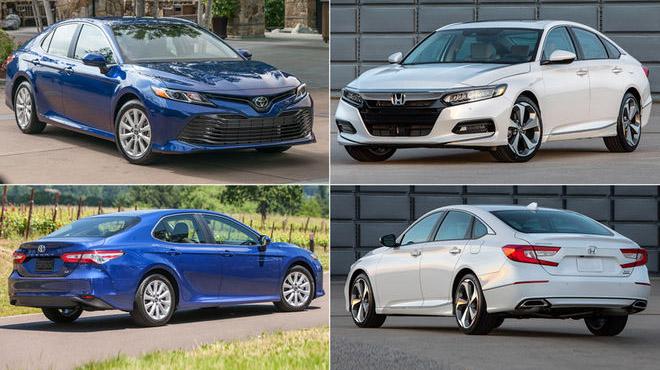So sánh thông số kỹ thuật Honda Accord 2018 và Toyota Camry 2018
