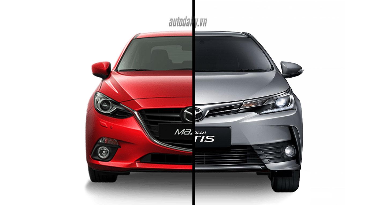 Mazda3 2017 vs Corolla Altis 2017: Cán cân nghiêng về bên nào?