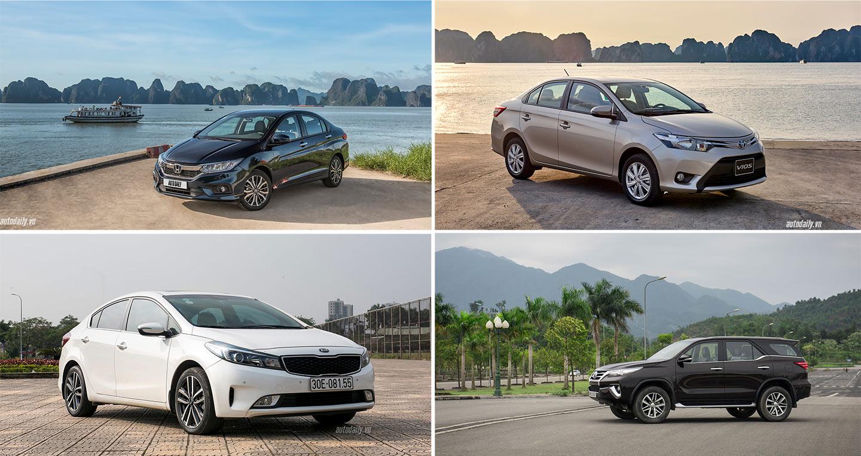 [Infographic] Top 10 ôtô bán chạy nhất Việt Nam năm 2017