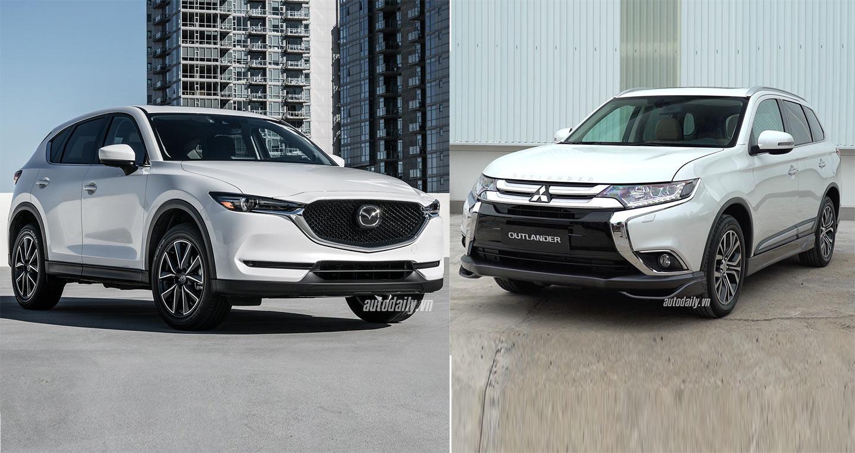 Hơn 800 triệu đồng, chọn Mitsubishi Outlander 2018 hay Mazda CX-5 2018?