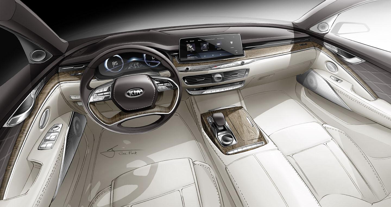Lộ diện phác thảo nội thất Kia K900 thế hệ mới