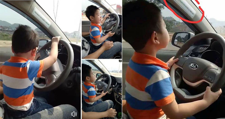 Bà mẹ bị chỉ trích vì khoe con trai 3 tuổi lái ô tô