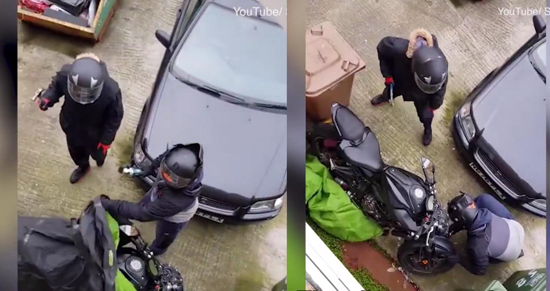 Video: Lũ trộm cay cú vì đánh cắp xe máy không thành công