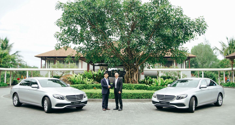 Bàn giao bộ đôi Mercedes E 200 cho khu phức hợp nghỉ dưỡng quốc tế Laguna Lăng Cô