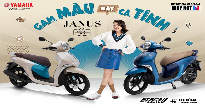 Yamaha Janus 125 bản giới hạn có màu sắc mới