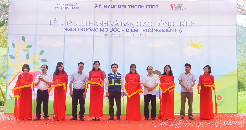 Hyundai Thành Công khánh thành điểm trường tiểu học tại Thanh Hóa
