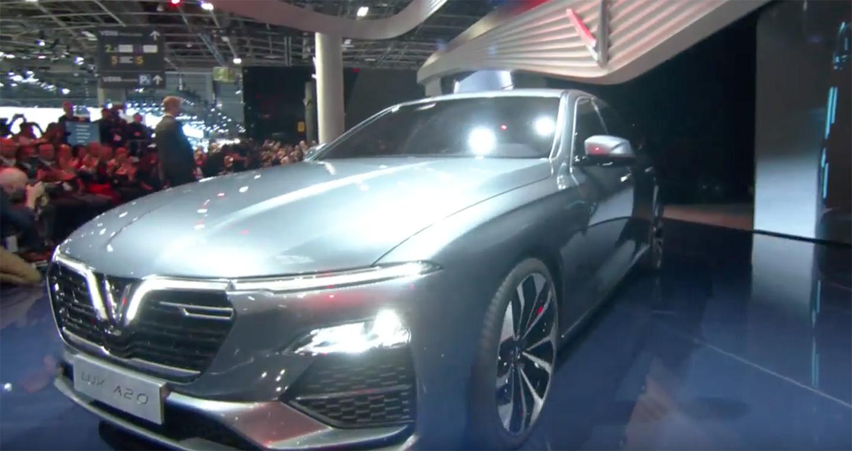  VINFAST  Những hình ảnh NÓNG của Sedan VinFast LUX A2.0 tại Paris Motor Show