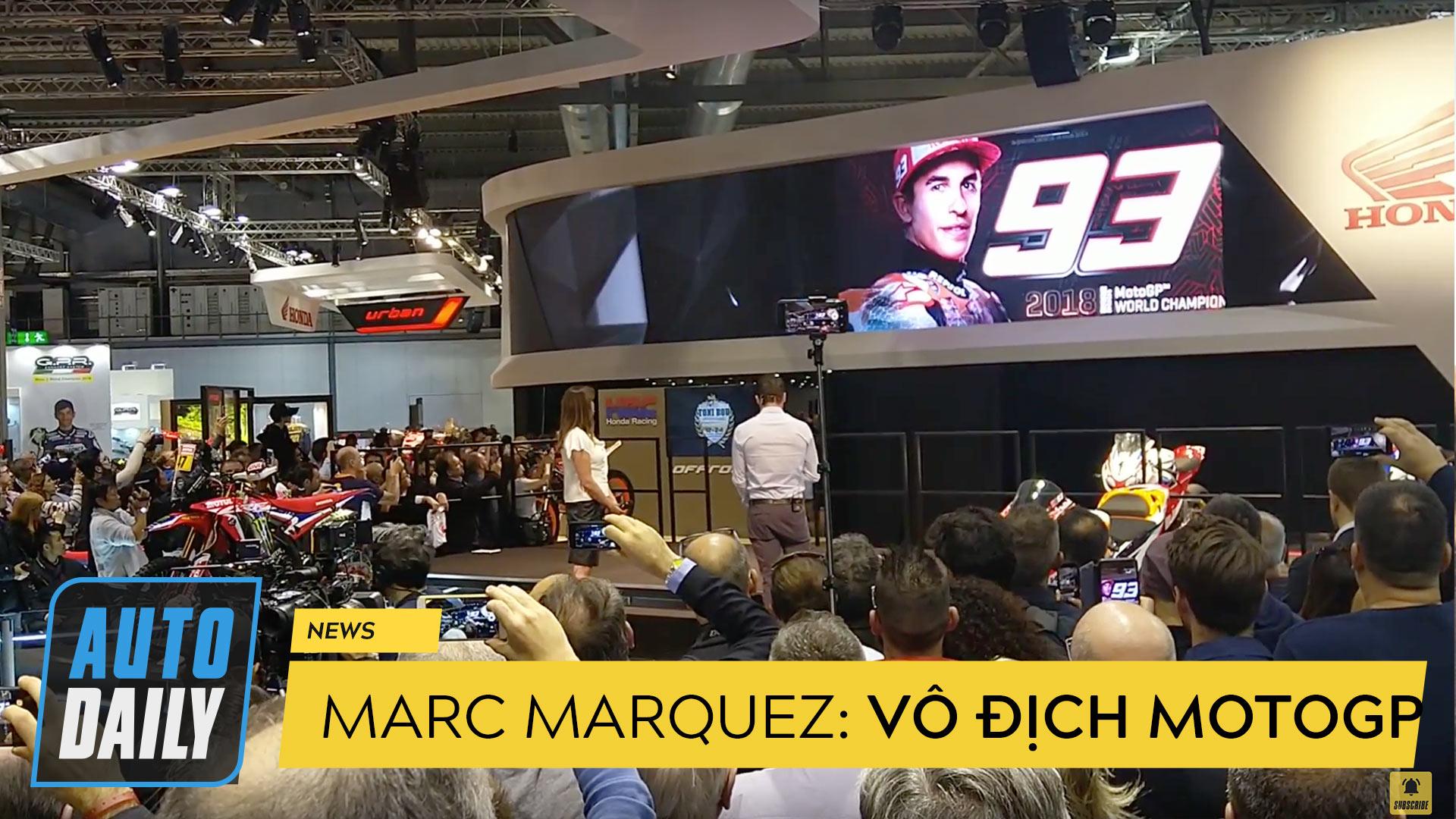 """Marc Marquez """"gây bão"""" tại gian hàng Honda"""