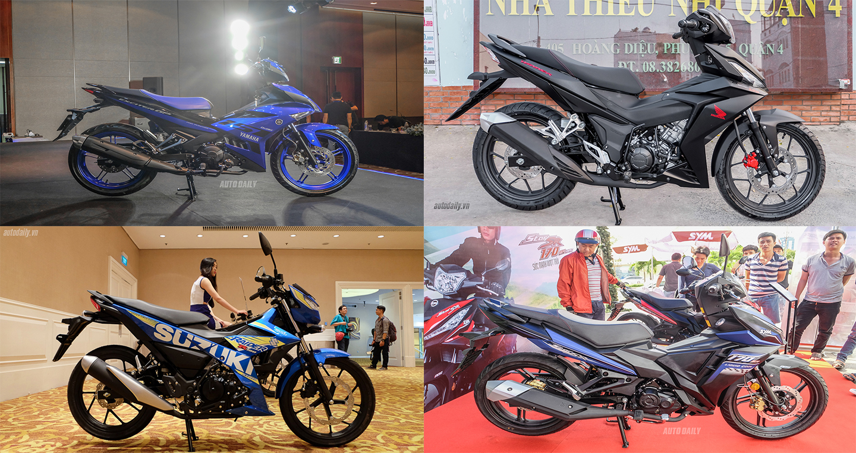 Chọn Yamaha Exciter, Honda Winner, Suzuki Raider hay SYM Star SR170?