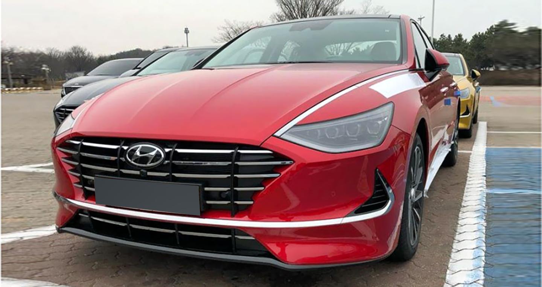 Ảnh thực tế đầu tiên về Hyundai Sonata 2020 với thiết kế lột xác