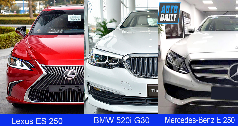 2,5 tỷ, chọn BMW 520i, Mercedes-Benz E250 hay Lexus ES250 2019?