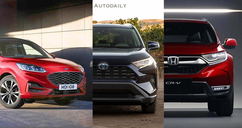 So sánh Ford Escape 2020 với Honda CR-V và Toyota RAV4