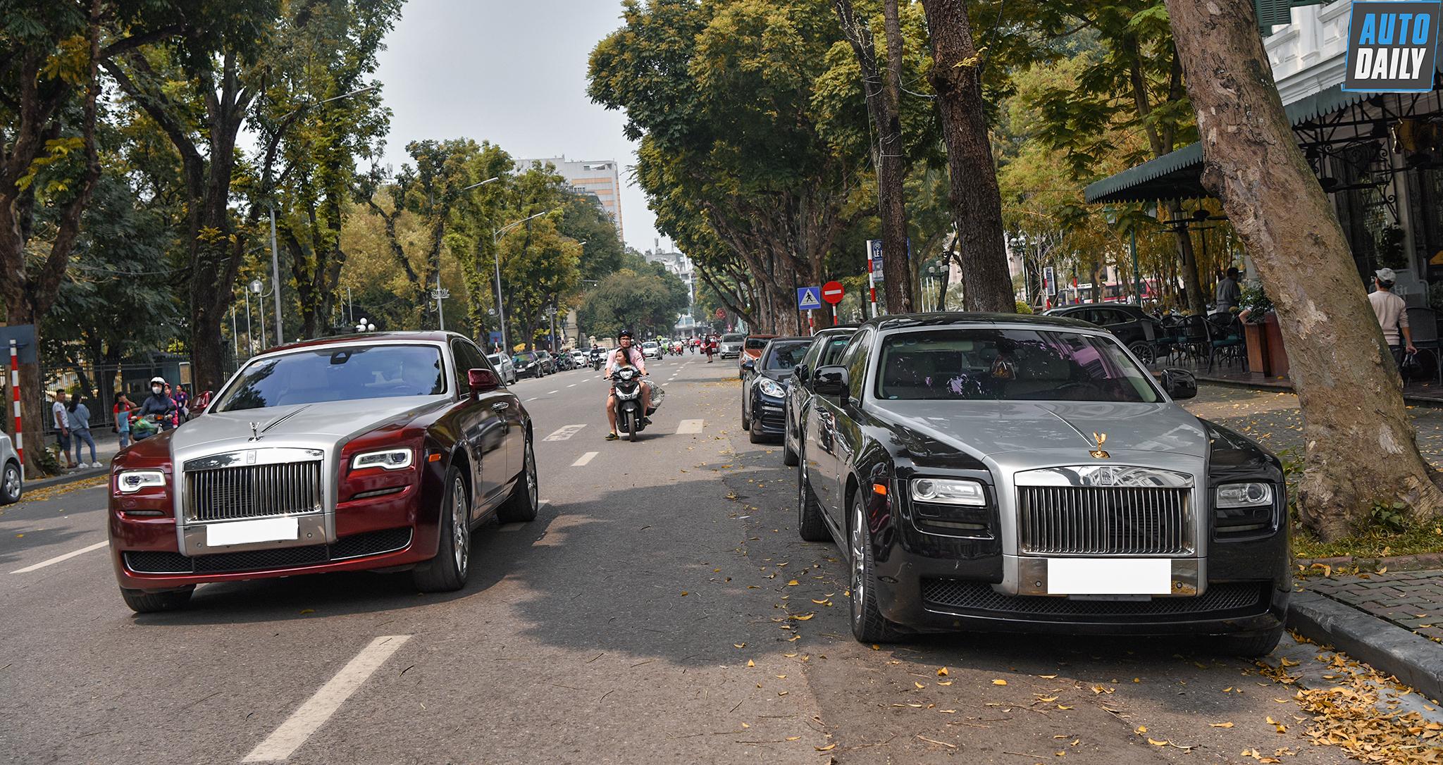 Chùm ảnh dàn xe Rolls-Royce, Bentley nối đuôi nhau tại Hà Nội