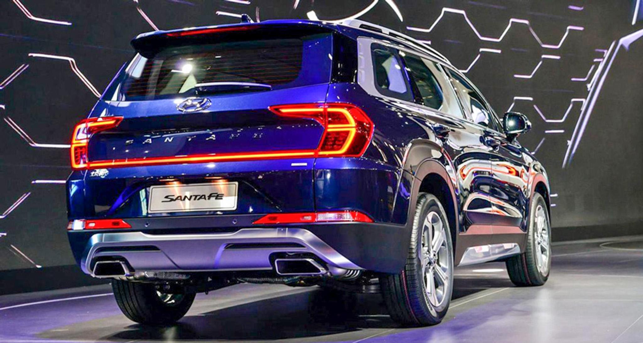 Hyundai SantaFe 2019 trục cơ sở dài ra mắt, thêm cảm biến vân tay