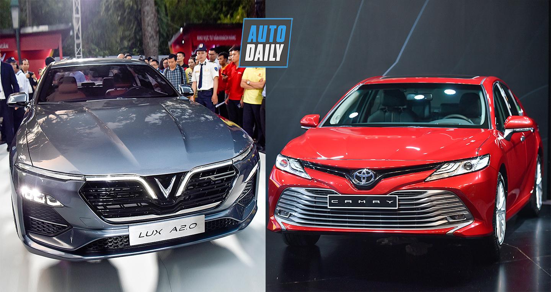 Toyota Camry 2019 giá sốc, phả hơi nóng lên VinFast Lux A2.0