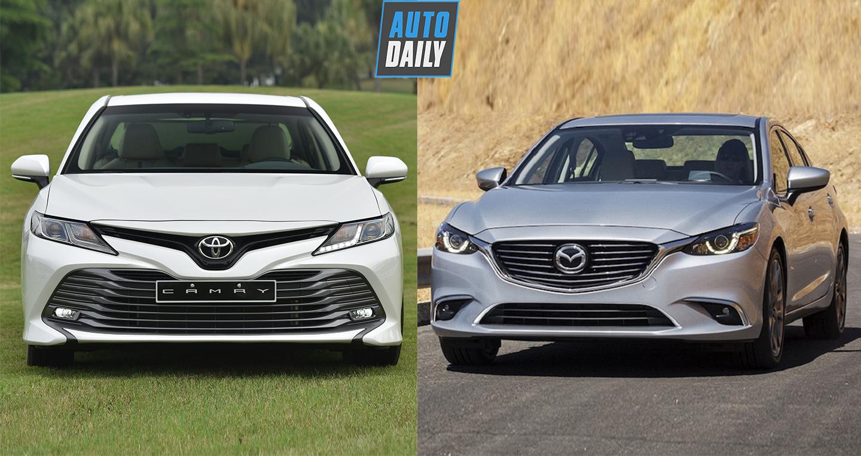 Hơn 1 tỷ đồng, chọn Toyota Camry 2.0G 2019 hay Mazda6 2.5 Premium?