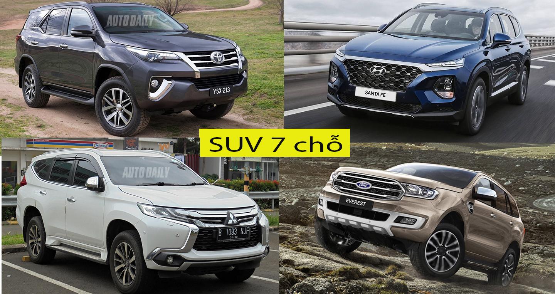 Người Việt chuộng mẫu SUV 7 chỗ nào nhất?