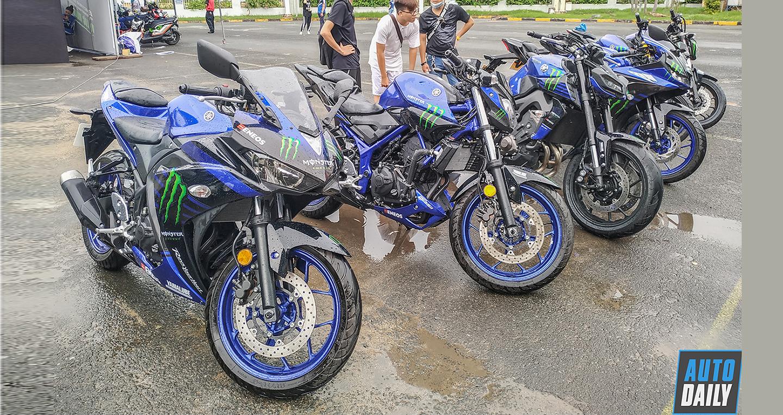 Dàn xe Yamaha phiên bản mãnh thú Monster Energy ở Sài Gòn
