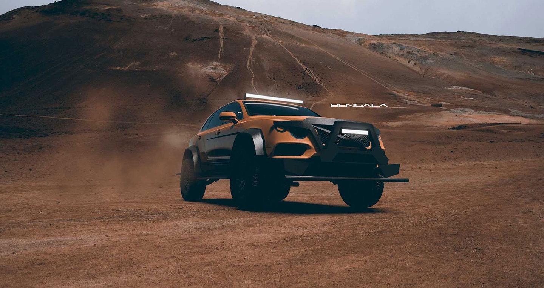 Cận cảnh SUV siêu sang mang hình dáng xe tăng của Bentley