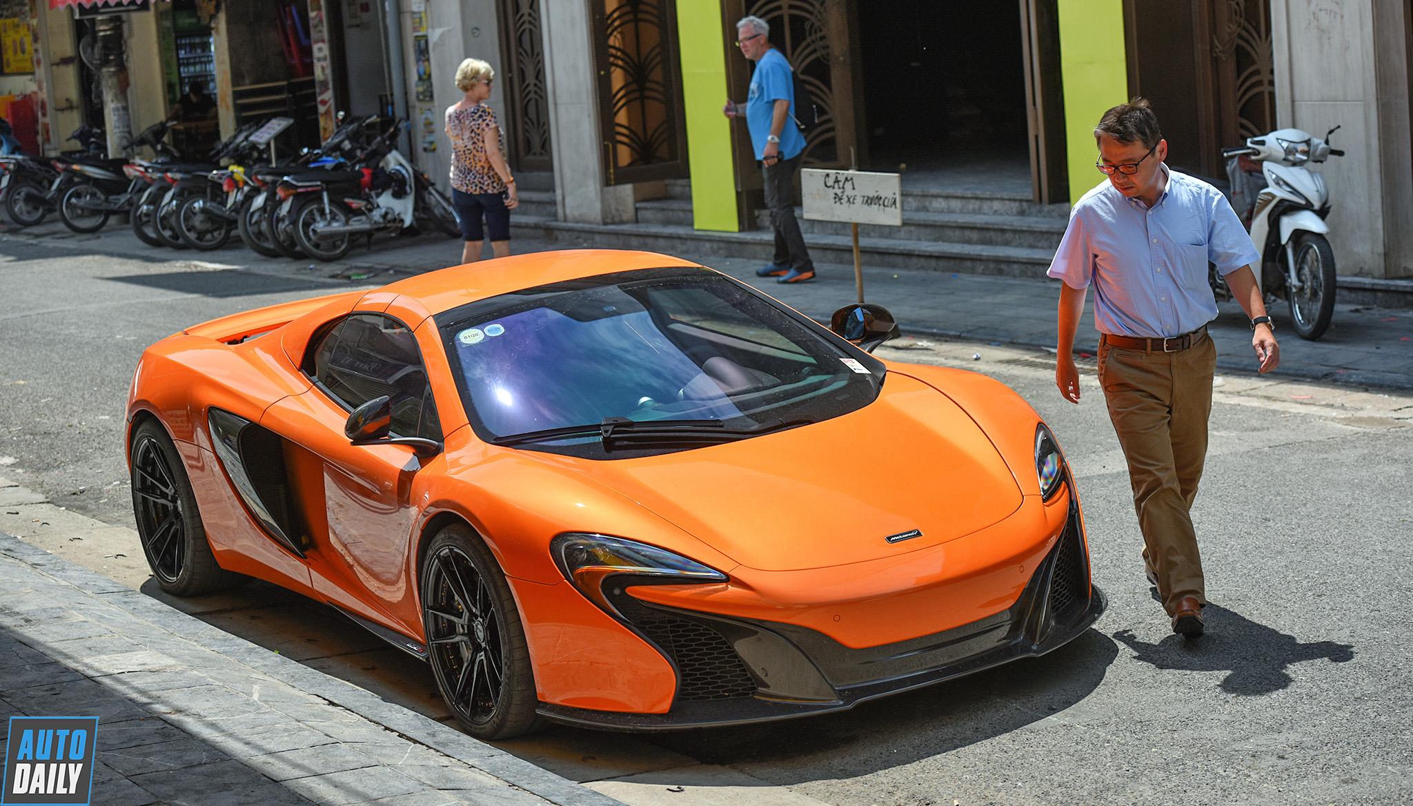 Siêu xe McLaren 650S Spider của đại gia Hà Nội