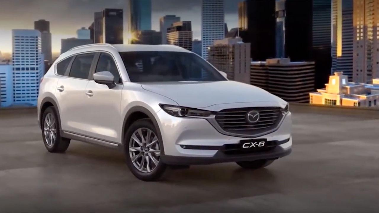 Mazda CX-8 giá từ 1,149 tỷ đồng, QUYẾT ĐẤU Toyota Fortuner và Hyundai SantaFe