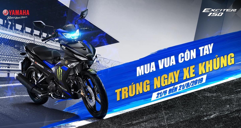 Yamaha tặng hàng trăm xe thể thao R3 và TFX cho khách hàng mua Exciter