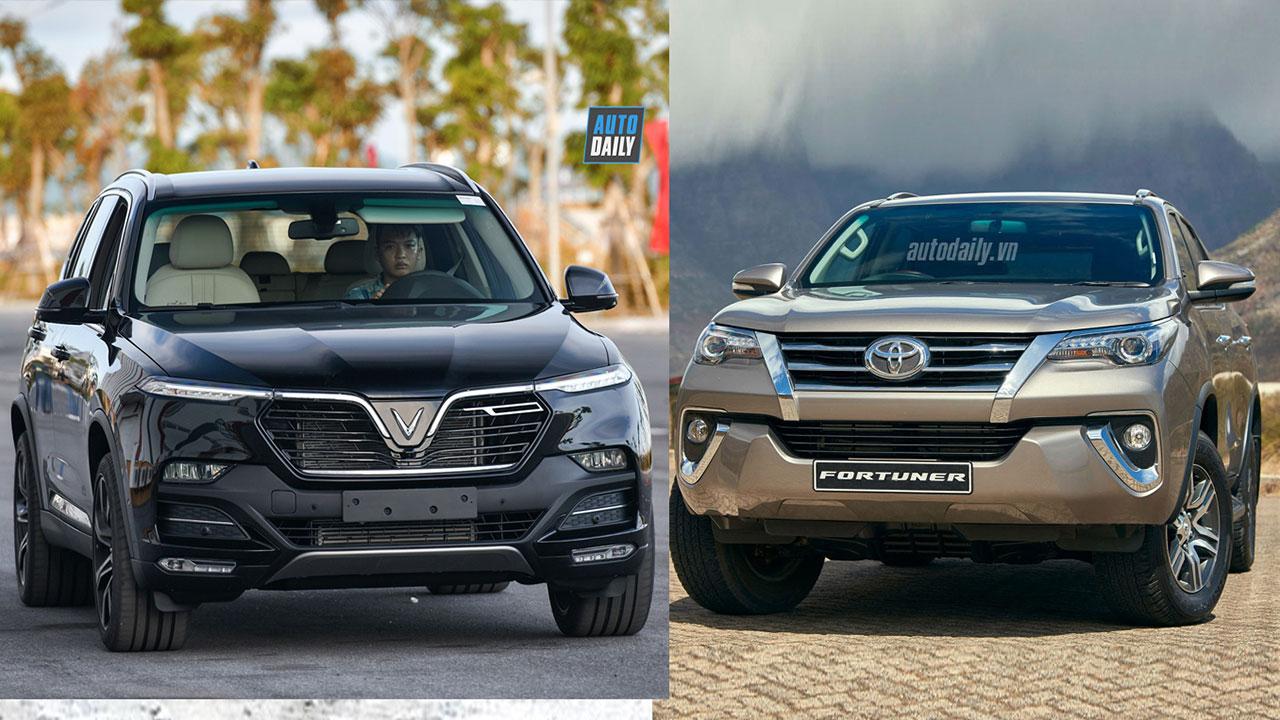 """VinFast Lux SA2.0 ĐỐI ĐẦU """"thánh"""" Toyota Fortuner: Bạn chọn xe nào?"""