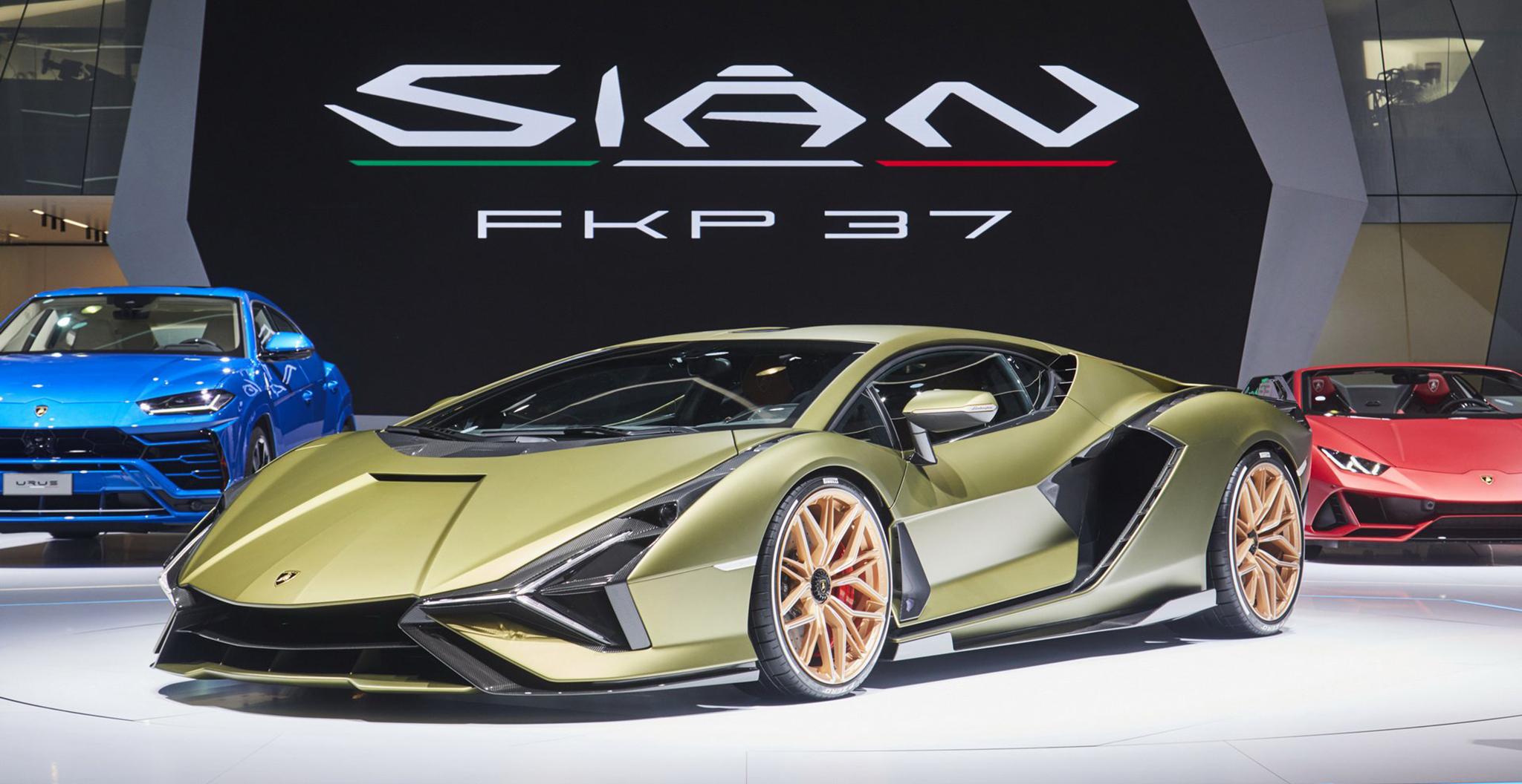 Tuyệt phẩm Lamborghini Sian ra mắt tại Frankfurt Motor Show