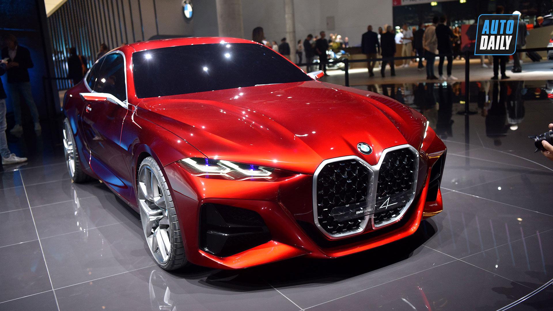 BMW ra mắt concept 4 với lưới tản nhiệt siêu to khổng lồ
