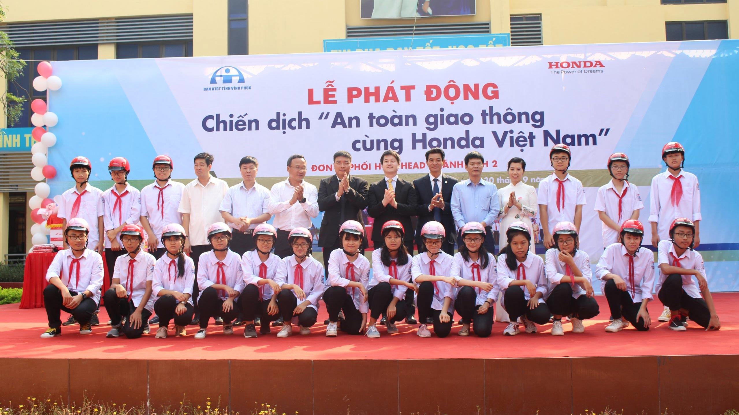 Honda Việt Nam phát động chiến dịch an toàn giao thông tại Vĩnh Phúc