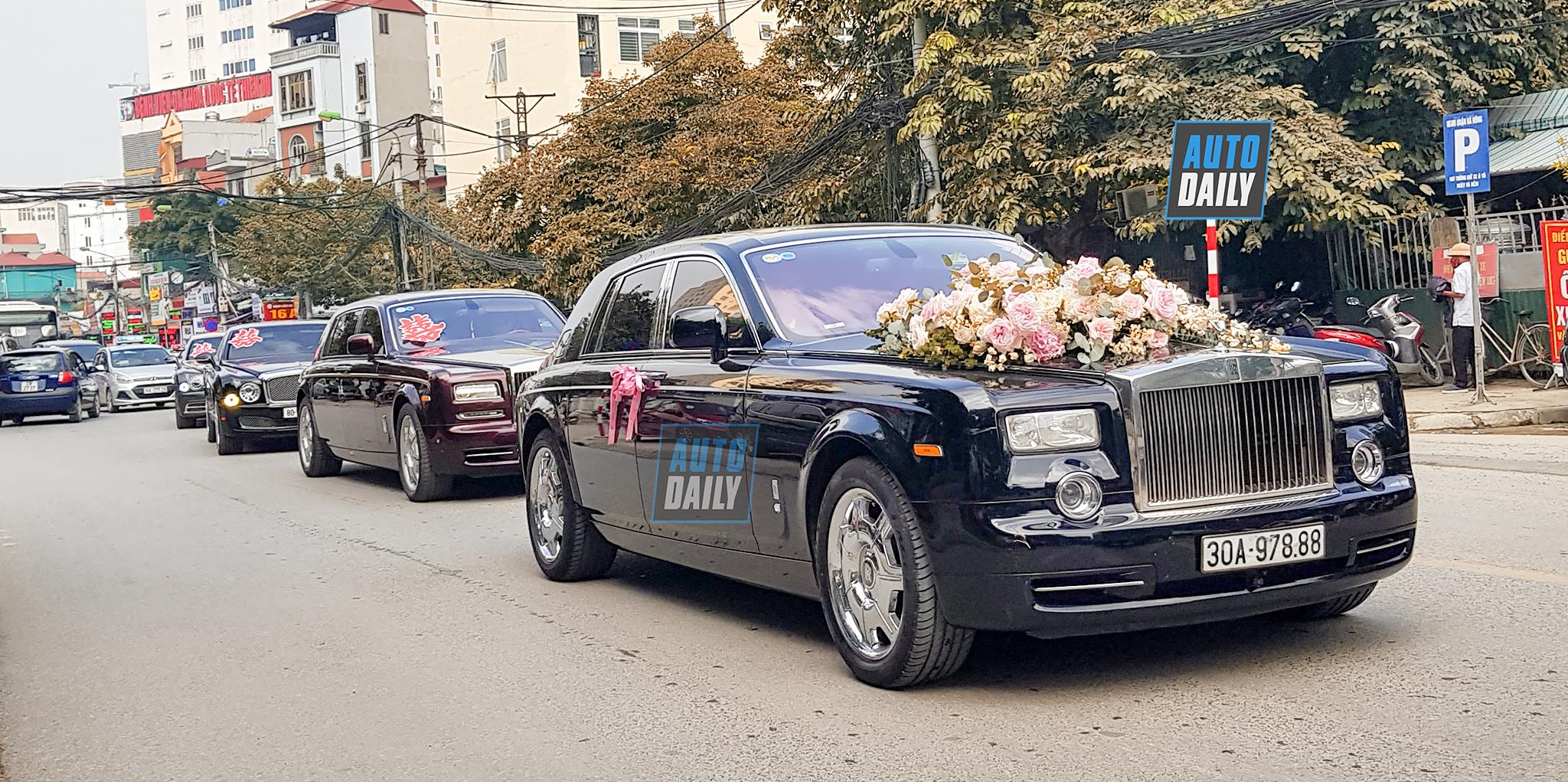 'Siêu đám cưới' với dàn xe hoa toàn Rolls-Royce và Bentley tại Hà Nội