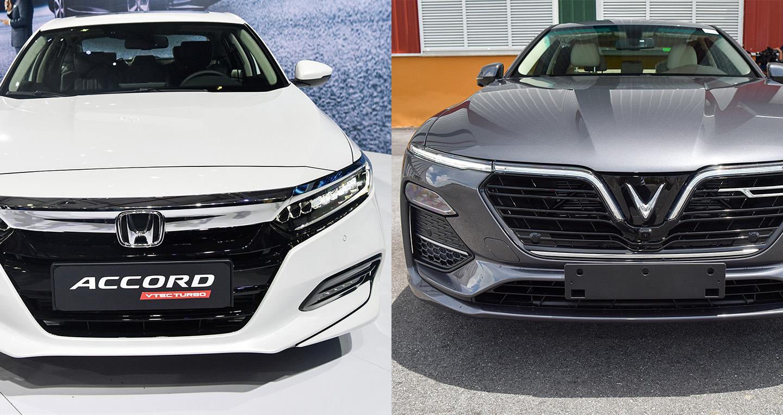 Tầm giá 1,3 tỷ đồng, chọn Honda Accord 2019 hay VinFast Lux A2.0?