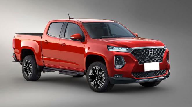 Xe bán tải Hyundai sẽ thừa hưởng động cơ dầu tăng áp I6 của Genesis GV80