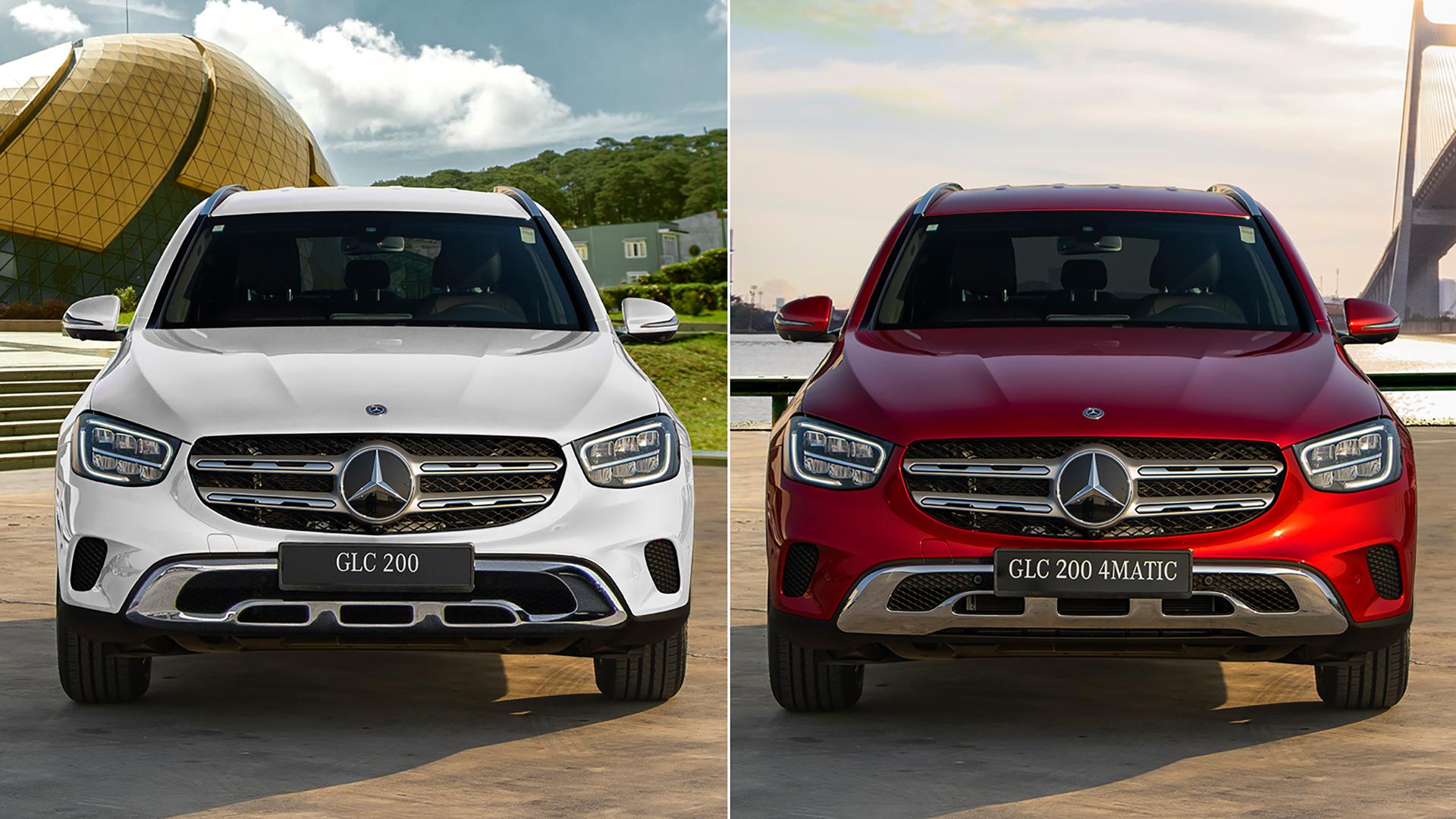 So sánh Mercedes GLC 200 giá 1,749 tỷ và GLC 200 4Matic 2020 giá 2,039 tỷ