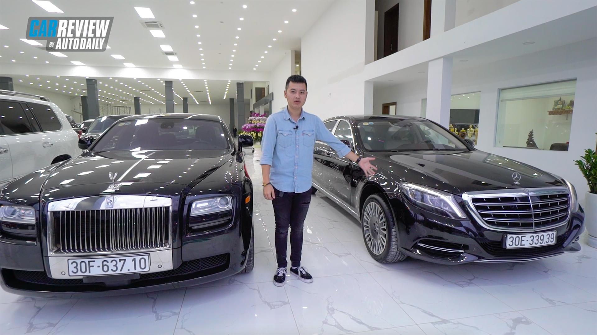 9 tỷ, chọn Rolls Royce Ghost cũ 10 năm tuổi hay Mercedes S Maybach