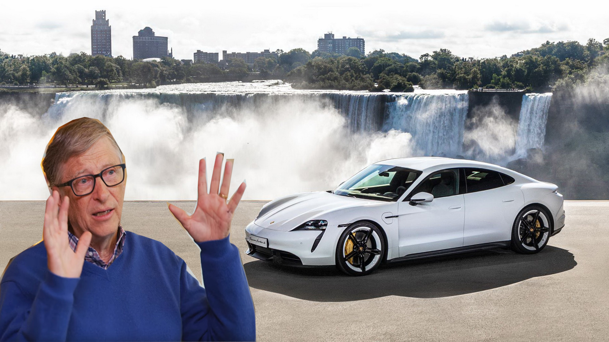 Tỷ phú Bill Gates khen Tesla nhưng mua một chiếc Porsche Taycan