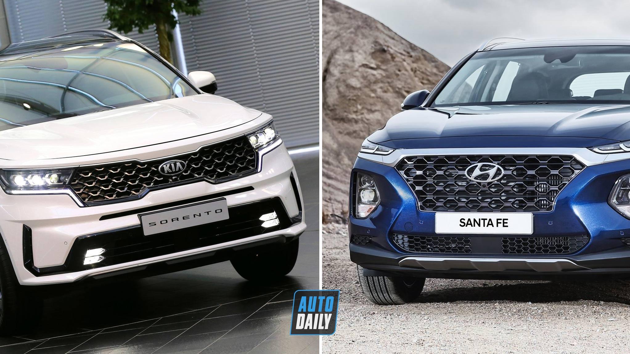 So sánh Kia Sorento 2021 và Hyundai SantaFe 2019 – Nên chọn SUV 7 chỗ nào?