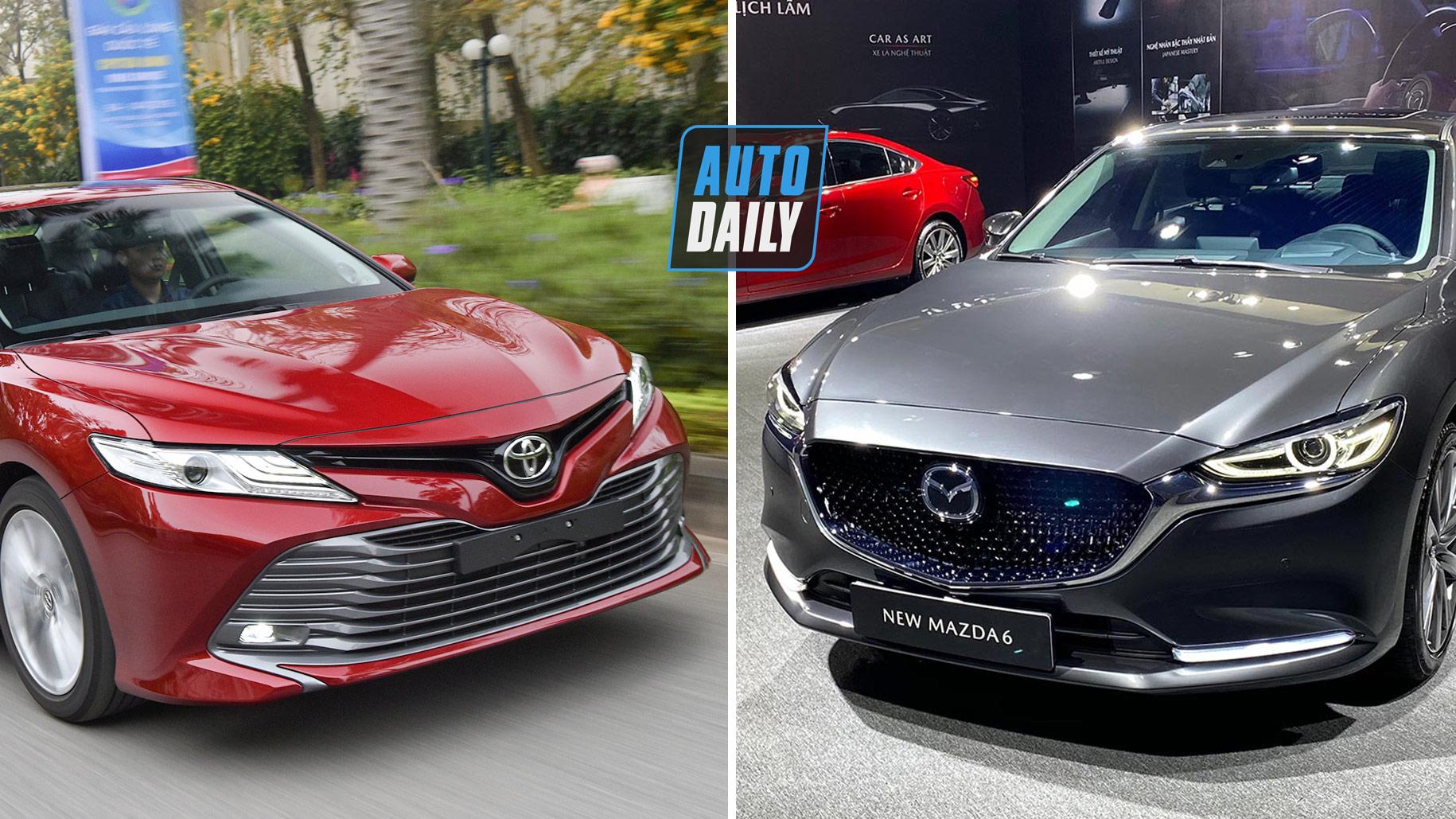 New Mazda6 2020 so kè Toyota Camry: Chọn sedan hạng D nào?