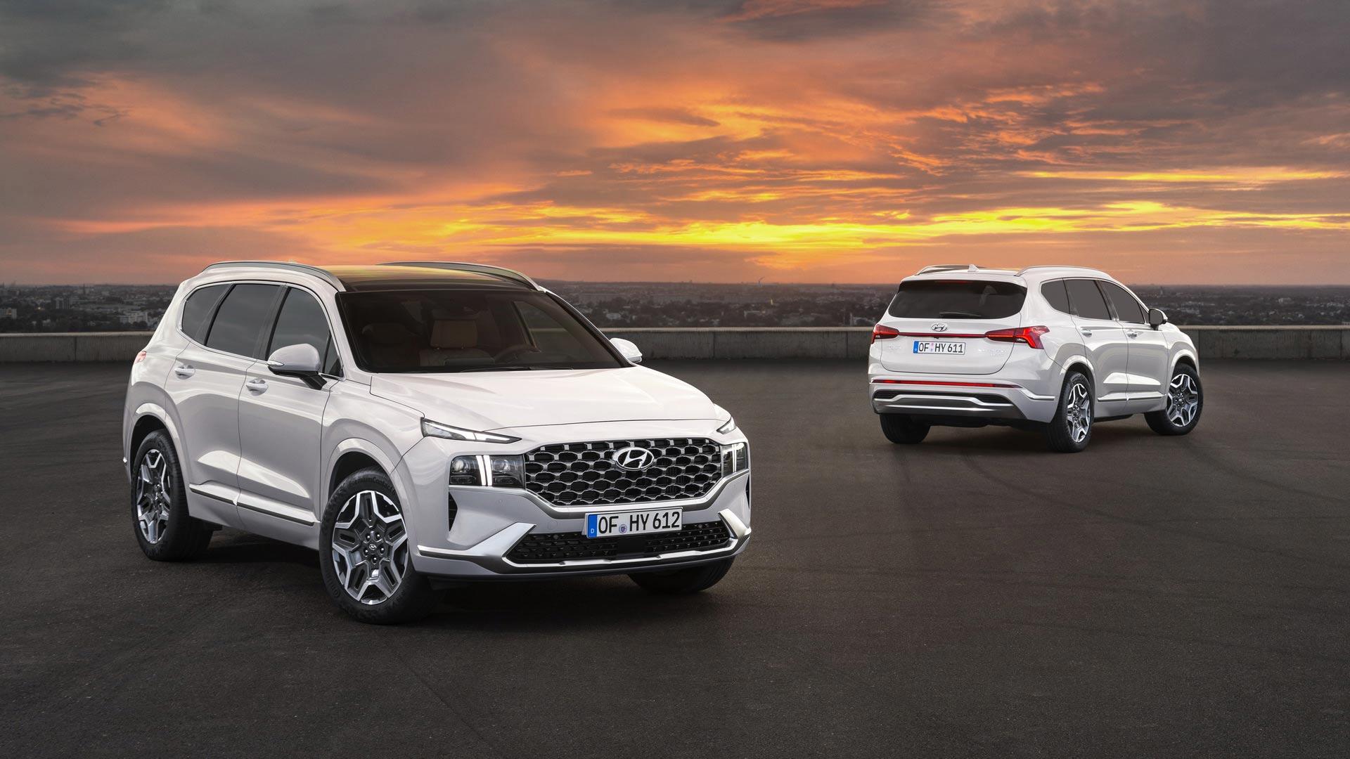 Chi tiết Hyundai Santa Fe 2021 phiên bản tiết kiệm nhiên liệu