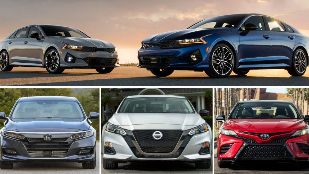 So sánh Kia Optima 2021 với Toyota Camry và Honda Accord