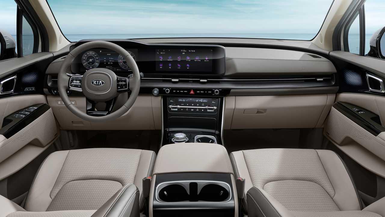 Lộ diện nội thất đậm chất xe sang của Kia Sedona 2021