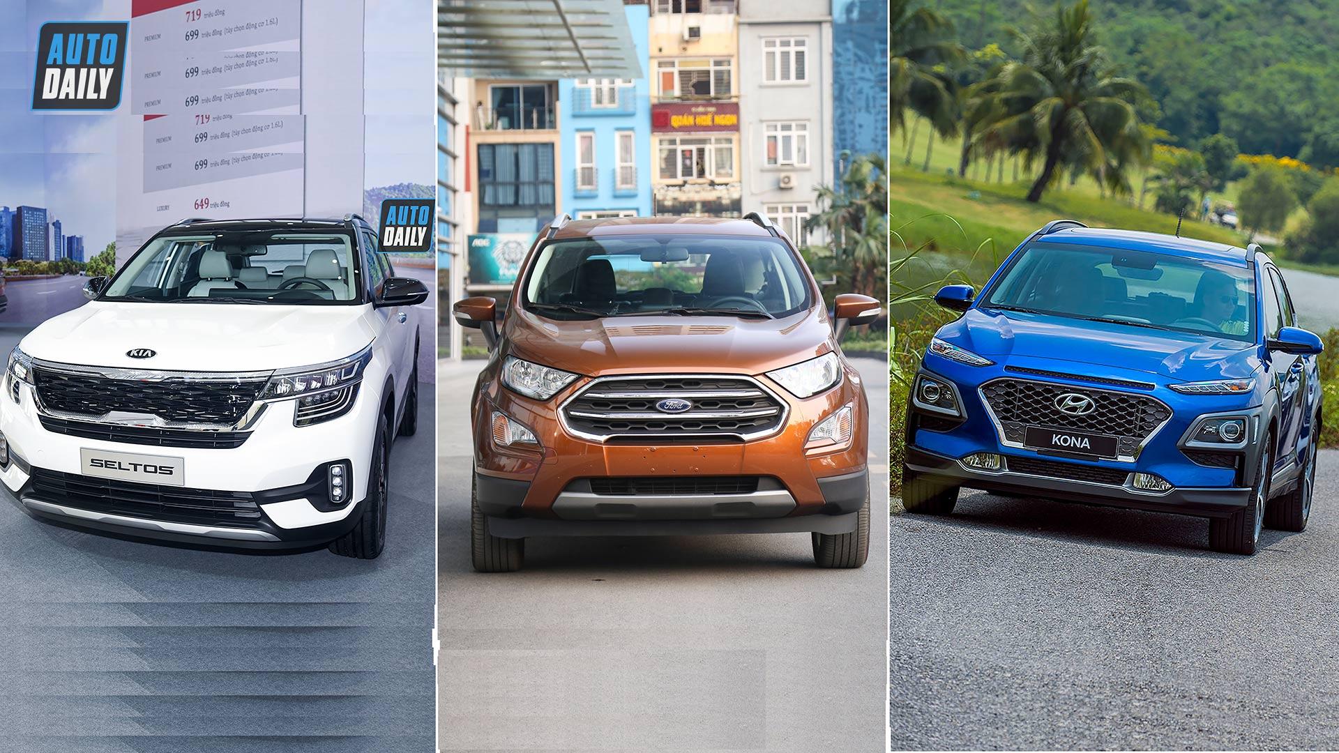 700 triệu, chọn Kia Seltos, Ford EcoSport hay Hyundai Kona?