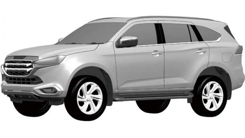 Isuzu MU-X thế hệ mới lộ bằng sáng chế, đối thủ của Toyota Fortuner