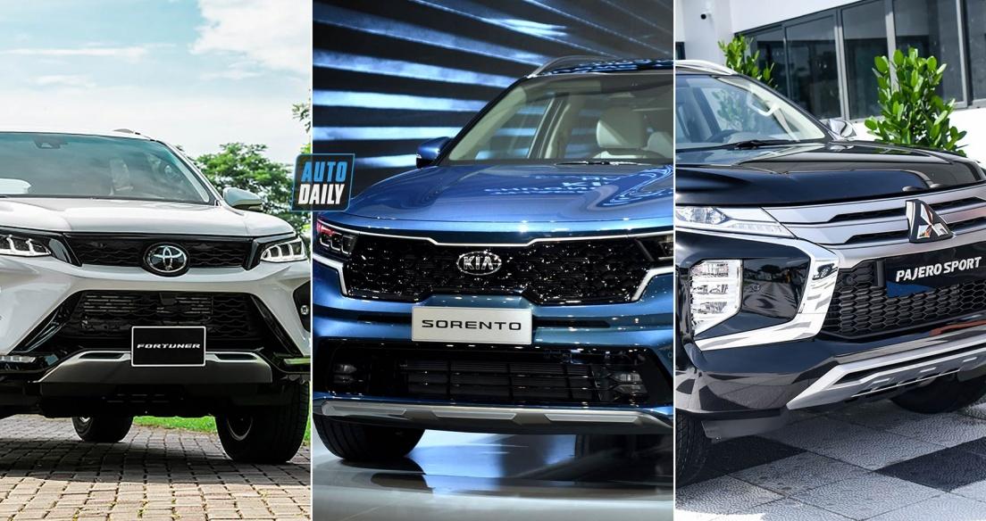 Tầm giá 1,4 tỷ đồng, chọn Mitsubishi Pajero Sport, Toyota Fortuner hay Kia Sorento?